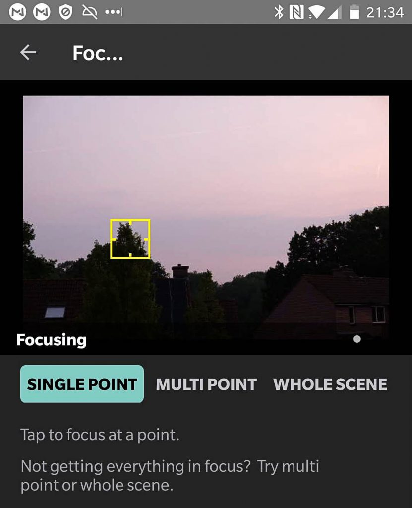 Single Point focus with Arsenal